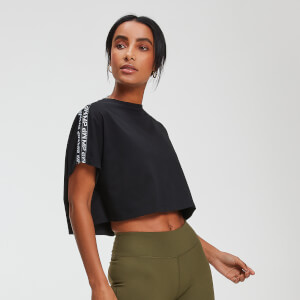 T-Shirt Crop Top Power - Noir