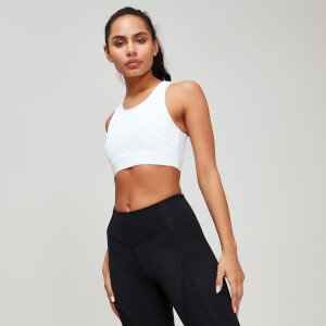 MP Textured Training Women's Sports Bra - White