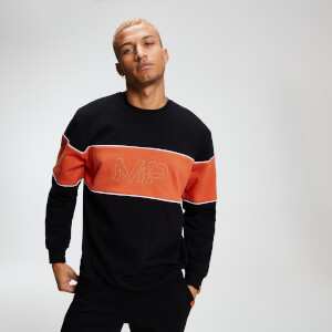 MP Rest Day Men's Stripe Sweatshirt - Black