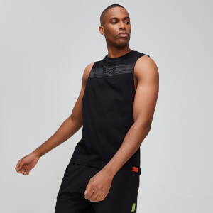 Rest Day Drop Armhole Tank Top - Schwarz