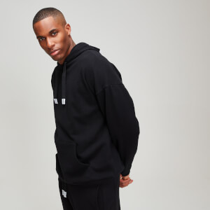 Sweat à capuche à rayures MP Rest Day pour homme - Noir
