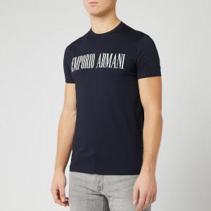 Emporio Armani Men's Script Chest Logo T-Shirt - Navy