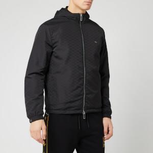 Emporio Armani Men's Allover Print Jacket - Black