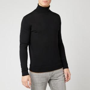 Emporio Armani Men's Ez Logo Roll Neck Sweater - Black