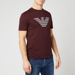 Emporio Armani Men's Sewn Eagle T-Shirt - Burgundy