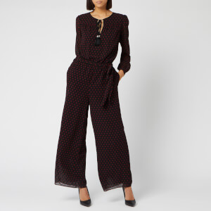MICHAEL MICHAEL KORS Women's Mod Dot Jumpsuit - Black/Dark Brandy