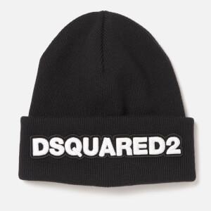 Dsquared2 Men's Knit Hat Doppio - Nero/Bianco