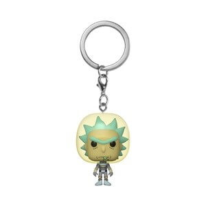 Rick And Morty Space Rick Pocket Funko Pop! Keychain