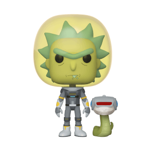 Figurine Pop! Space Rick Avec Serpent - Rick Et Morty