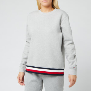 Tommy Hilfiger Women's Kizzy Crewneck Long Sleeve Sweatshirt - Light Grey Heather
