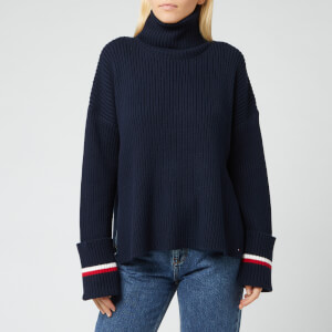 Tommy Hilfiger Women's Hasel Roll Neck Sweater - Sky Captain