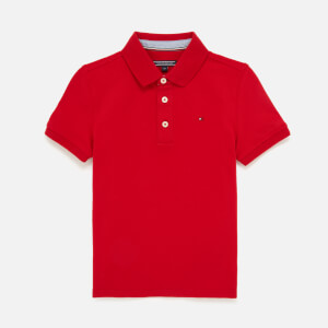 Tommy Kids Boys' Iconic Polo Shirt - Apple Red