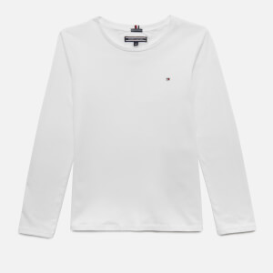 Tommy Hilfiger Girls' Basic Long Sleeve T-Shirt - Bright White