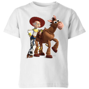 Toy Story 4 Jessie And Bullseye Kids' T-Shirt - White