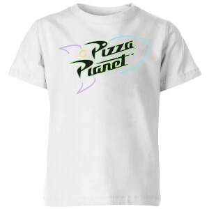 Toy Story 4 Pizza Planet Logo Kids' T-Shirt - White