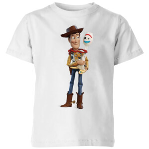 Toy Story 4 Woody And Forky Kids' T-Shirt - White