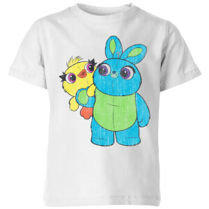 Toy Story 4 Ducky And Bunny Kids' T-Shirt - White