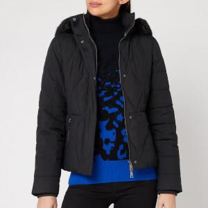 Ted Baker Women's Erikaa Short Faux Fur Hood Down Jacket - Black