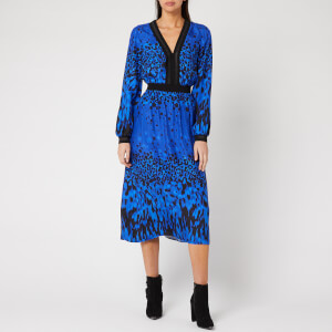 Ted Baker Women's Maryema Quartz Printed Long Sleeve Midi Dress - Blue
