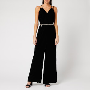 Ted Baker Women's Nellieh Wide Leg Velvet Jumpsuit - Black