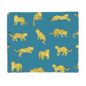 Blue Cheetahs Fleece Blanket