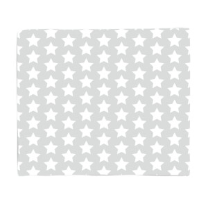 Grey Stars Fleece Blanket