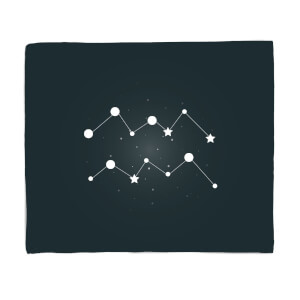 Aquarius Star Sign Fleece Blanket