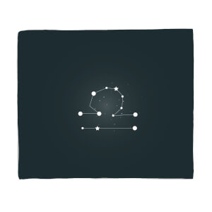 Libra Star Sign Fleece Blanket