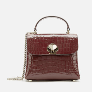 Kate Spade New York Women's Romy Croc Embossed Mini Top Handle Bag - Cherry