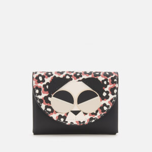 Kate Spade New York Women's Spademals Gentle Panda Medium Bifold Wallet - Multi