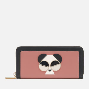 Kate Spade New York Women's Spademals Gentle Panda Slim Continental Wallet - Tinted Rose