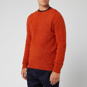 Officine Generale Men's Seamless Crewneck Brushed Shet Shirt - Rust