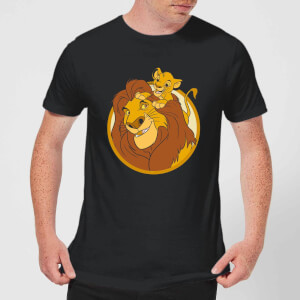 Disney Mufasa & Simba Men's T-Shirt - Black