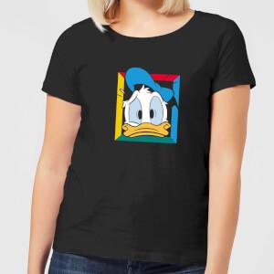 Disney Donald Face Women's T-Shirt - Black