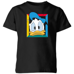 Disney Donald Face Kids' T-Shirt - Black