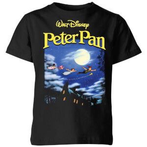 Disney Peter Pan Cover Kids' T-Shirt - Black