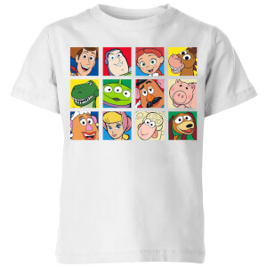 Disney Toy Story Face Collage Kids' T-Shirt - White
