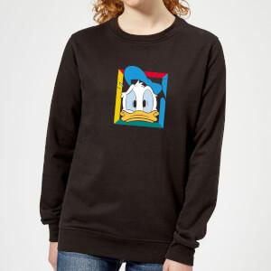 Disney Donald Face Women's Sweatshirt - Black