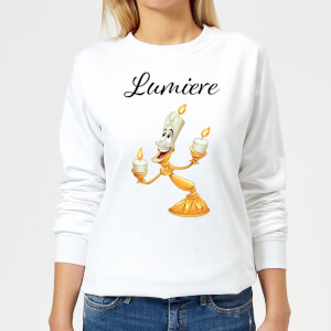 Disney Beauty And The Beast Lumiere Women's Sweatshirt - White