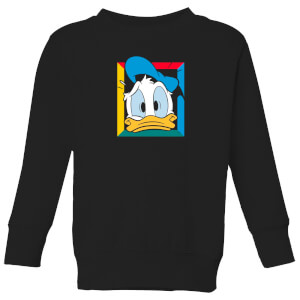 Disney Donald Face Kids' Sweatshirt - Black