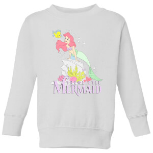 Disney Little Mermaid Kids' Sweatshirt - White