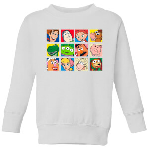 Disney Toy Story Face Collage Kids' Sweatshirt - White