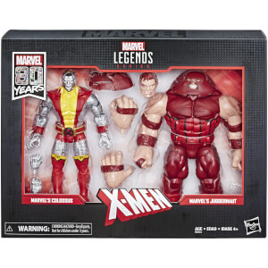 Marvel Comics 80 ans Legends Series - Coffret 2 figurines 15 cm Colossus et Juggernaut