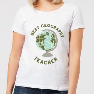 Best Geography Teacher Women's T-Shirt - White