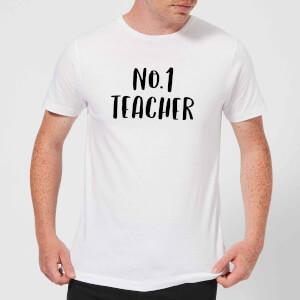 No.1 Teacher Men's T-Shirt - White