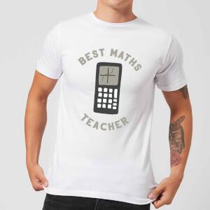 Best Maths Teacher Men's T-Shirt - White