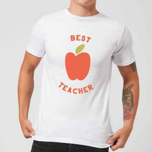 Best Teacher Apple Men's T-Shirt - White