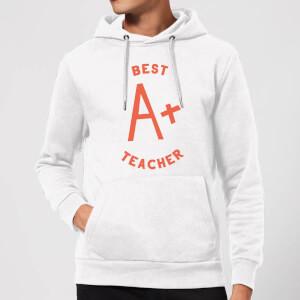 Best Teacher Hoodie - White
