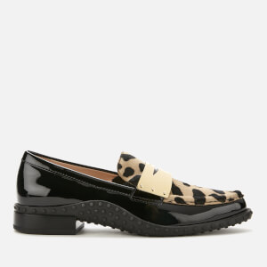 Tod's Women's Leopard Gomma Moccasin Shoes - Multi