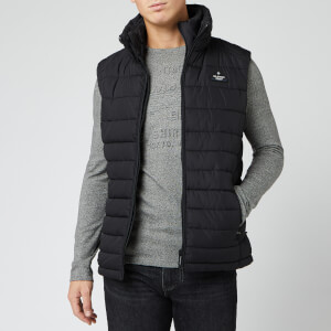 Superdry Men's Double Zip Fuji Gilet - Jet Black